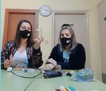 Διακόσμηση πασχαλινού γυάλινου βάζου